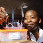 African female lab tech